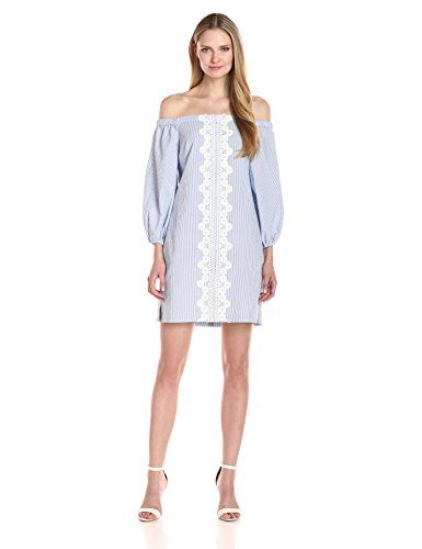 50073c603 Eliza J Womens Off Shoulder Seersucker Dress. Women's Fashion Dresses ...