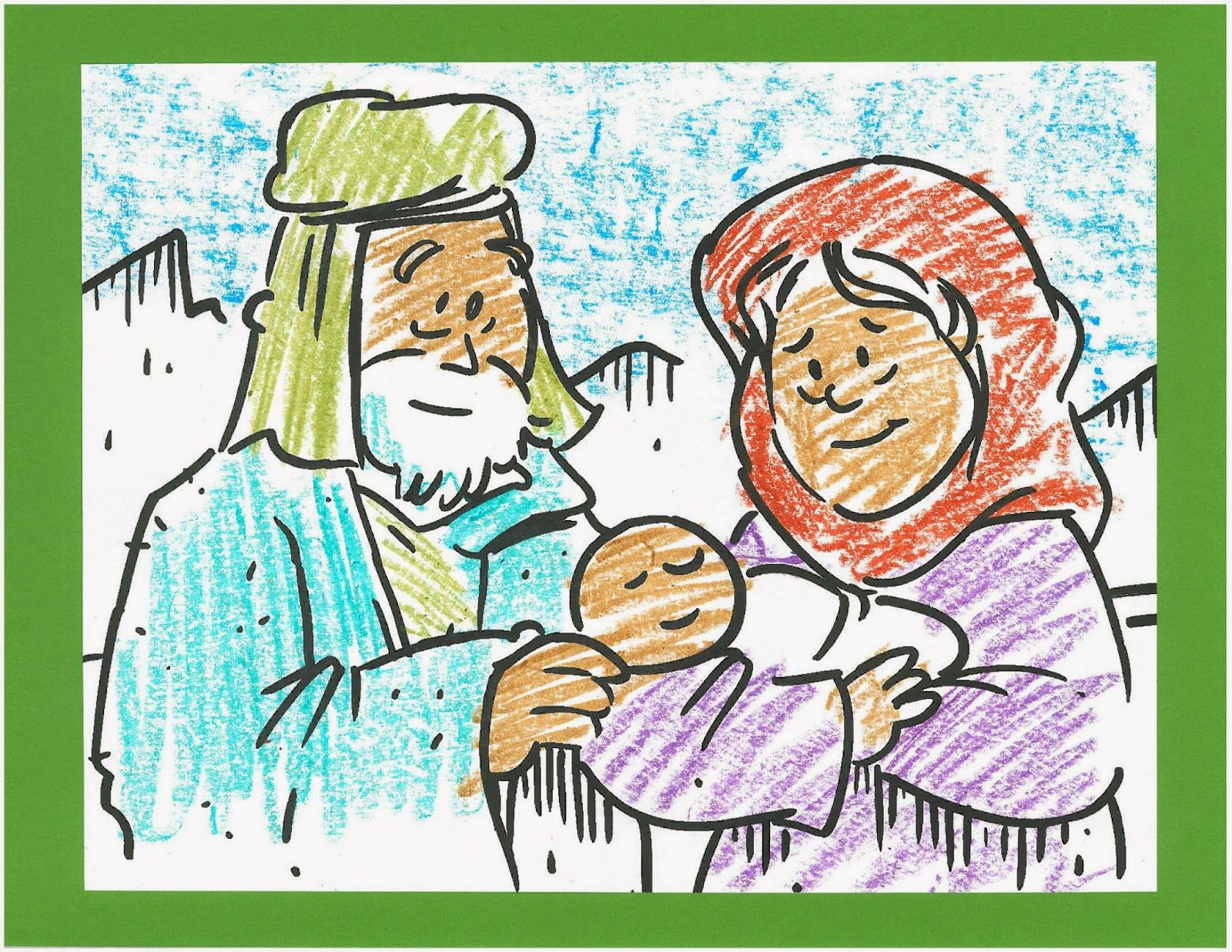 Boring Bible Busters . . . use this coloring page to tell the story ...