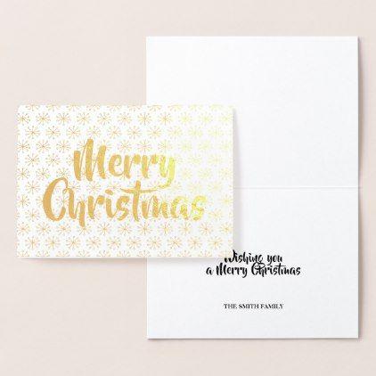 Merry Christmas Gold Foil Card Zazzle Com Gold Christmas