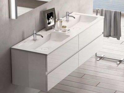 Burgbad Bel Doppelwaschtisch mit Waschtischunterschrank M   Bad ...