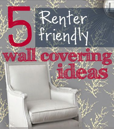 5 Ideas To Cover An Unsightly Wall In A Rental Home Diy Projects To Try Pinterest Walls