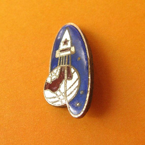 This is a vintage pin which is dedicated to a Gagarin's space flight, which was made in 1961. This is really rare and nice collectible item. This pin was made in 1961 and its condition is good.  Sizing: 13 by 25 mm (1/2 by 1 inch). More collectible items related to space exploration are available here http://etsy.me/1du56Pp ***************************************** When and how you will get your order?  ♥ All items will be shipped from Ukraine; ♥ All paid orders will be shipped within 48…