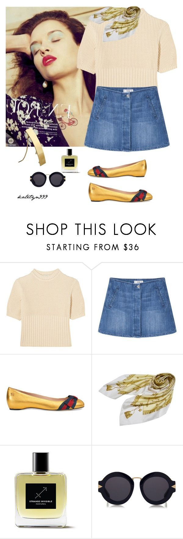 """""""Dream, smile ... laugh ..."""" by katelyn999 ❤ liked on Polyvore featuring Totême, MANGO, Gucci, Hermès, Karen Walker and Tiffany & Co."""