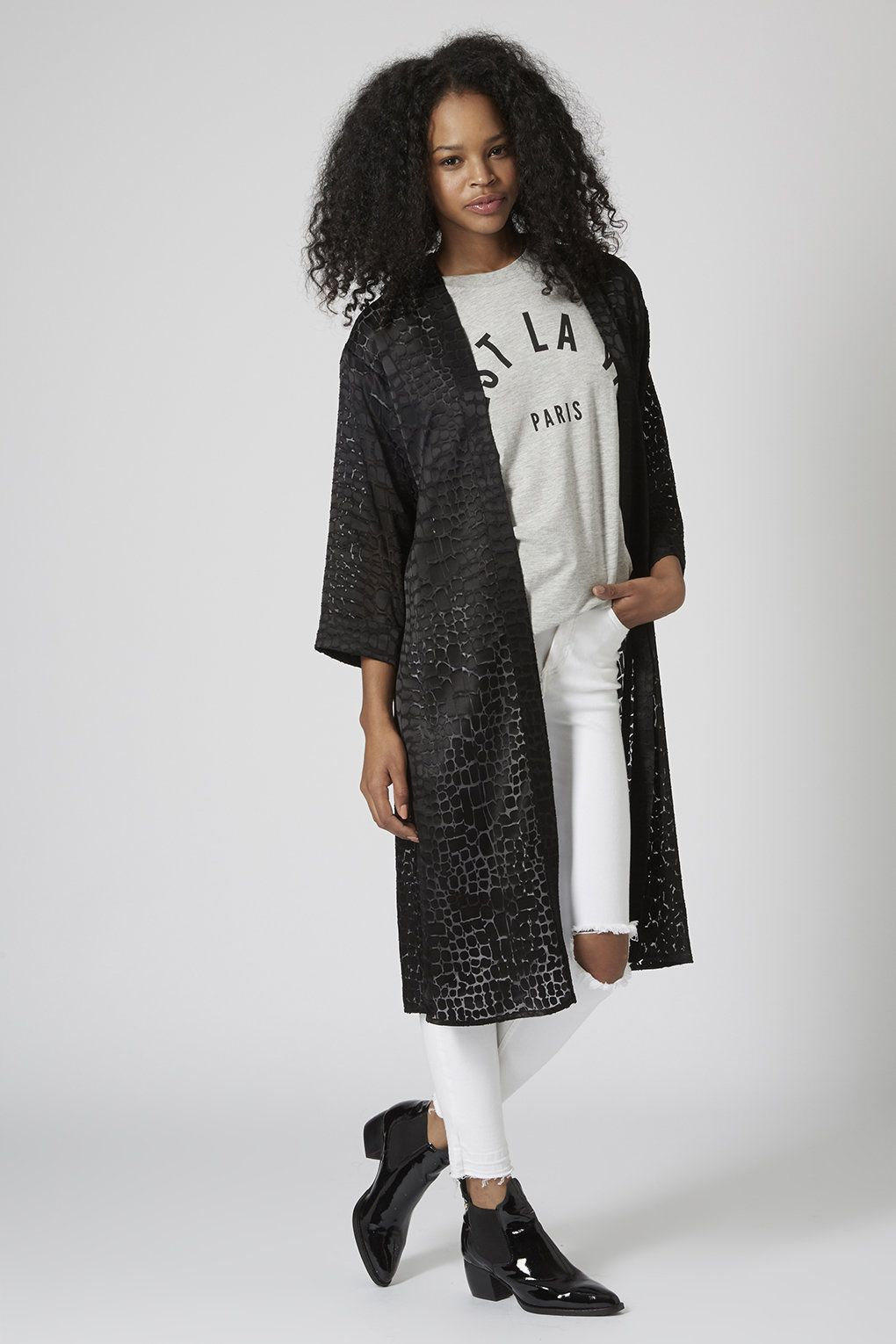 Burnout Reptile Duster Jacket - Topshop USA