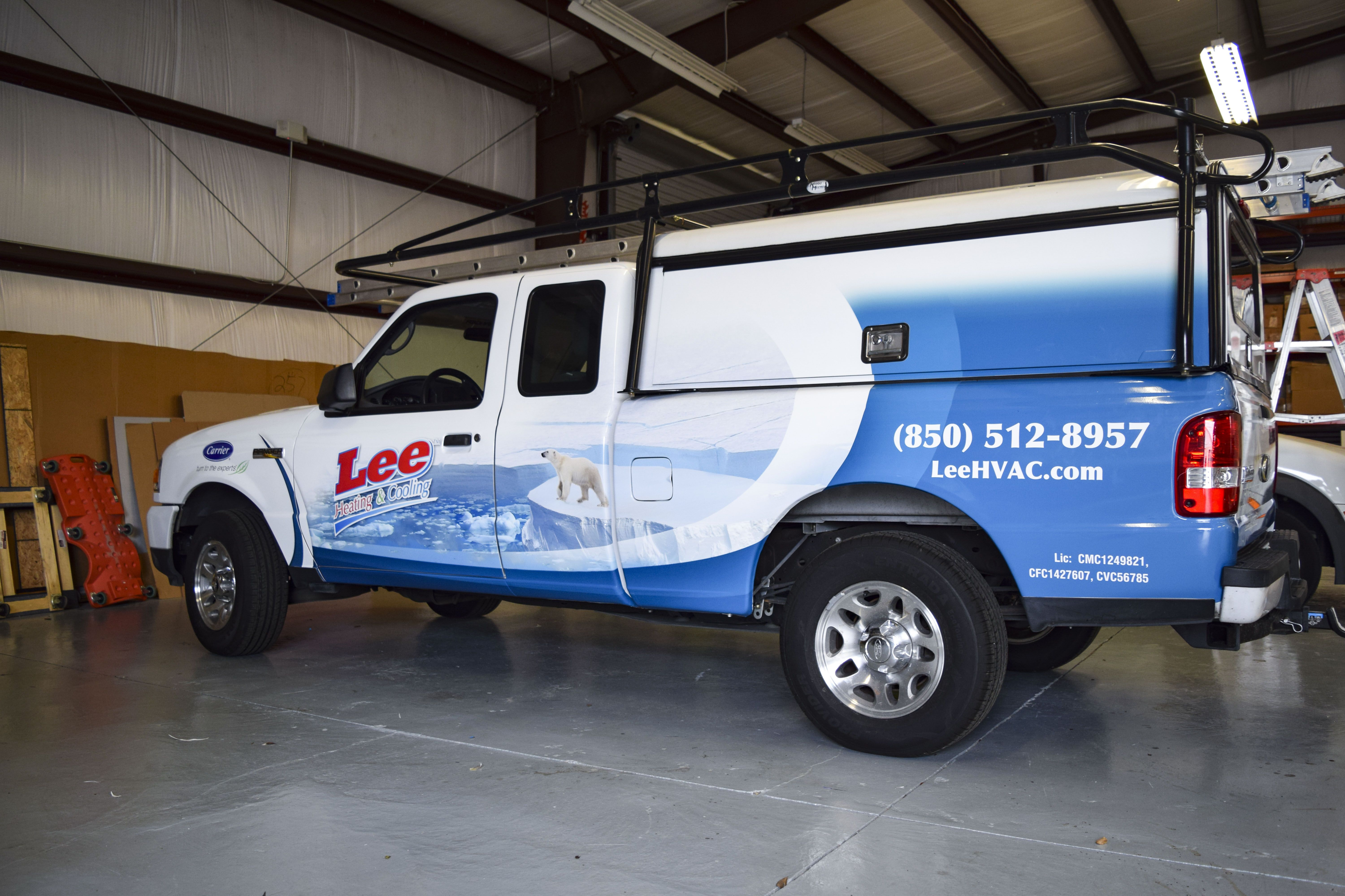 Lee Hvac Truck Wrap By Pensacola Sign In Pensacola Florida On