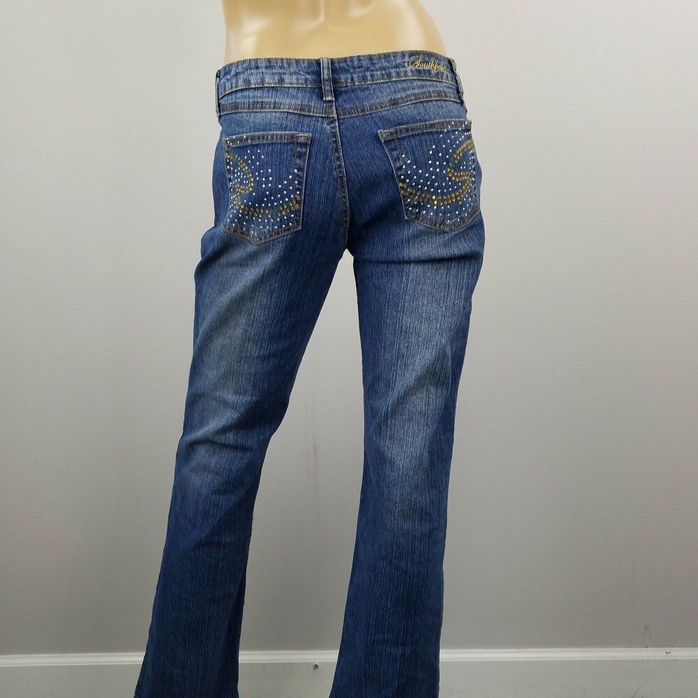ac134fd5a6d Southpole Jeans Dark Wash Boot Cut Stretch Womens Juniors Sz 9 #Southpole # BootCut