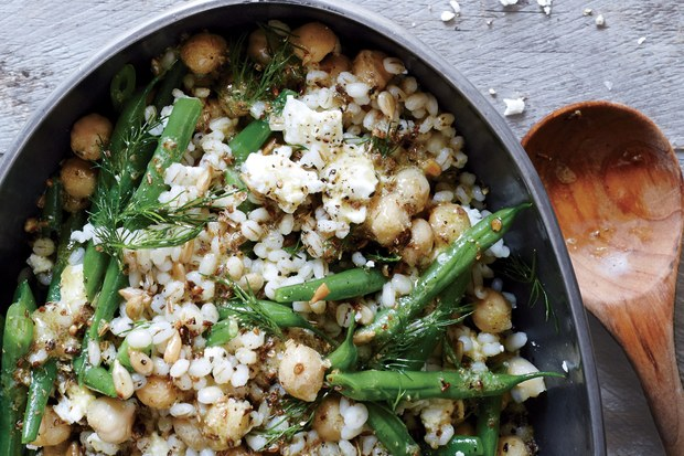 Chickpea Barley And Feta Salad Recipe With Images Feta Salad Epicurious Recipes Recipes