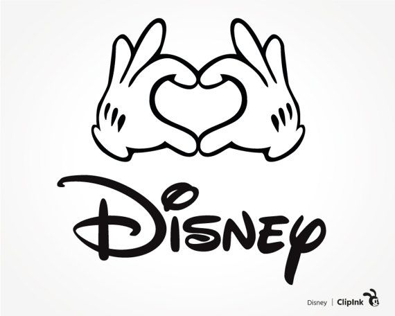 Download Disney svg clipart Mickey hands love sign silhouette by ...