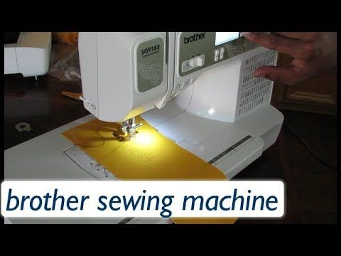 Learn How To Sew Large Fonts On A Brother Sewing Machine Imagine New Imagine Sewing Machine