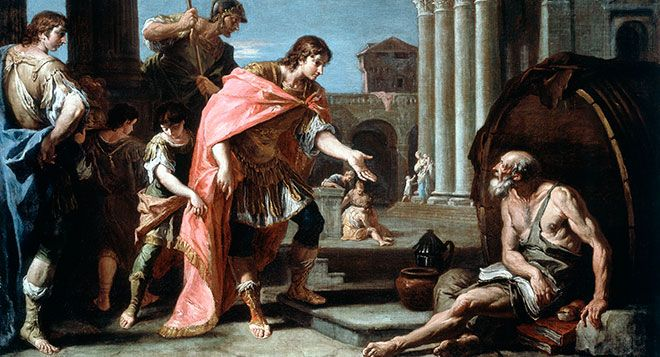 Diogenes Of Sinope Alexander The Great Diogenes Of Sinope