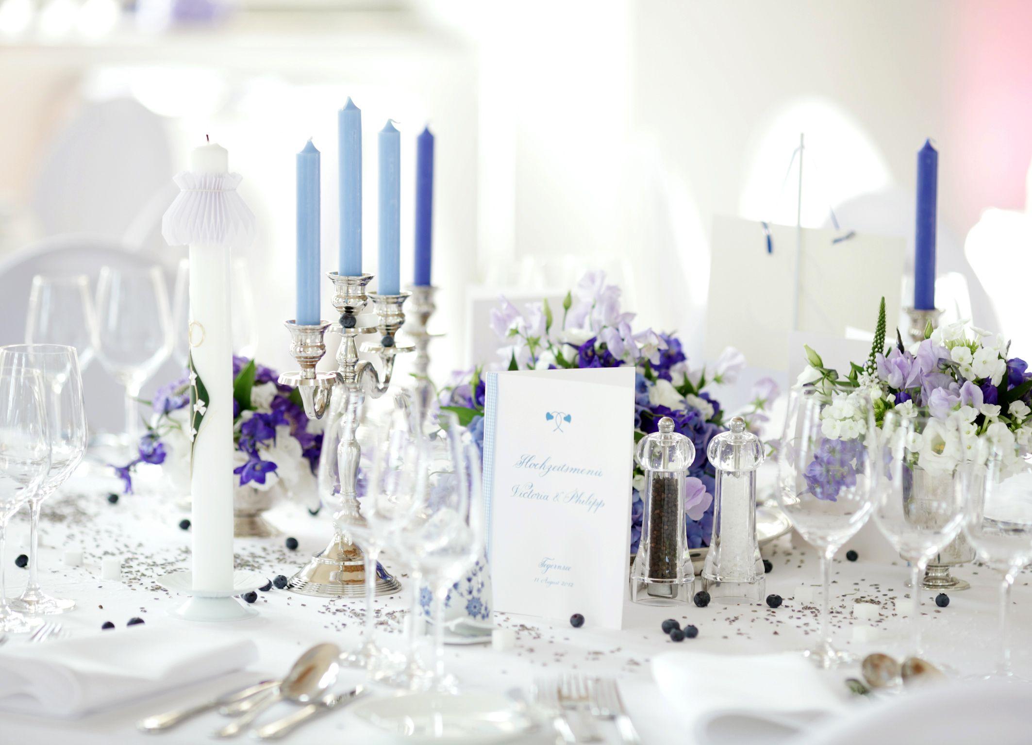 Barock blau blumen dekoration chanukka