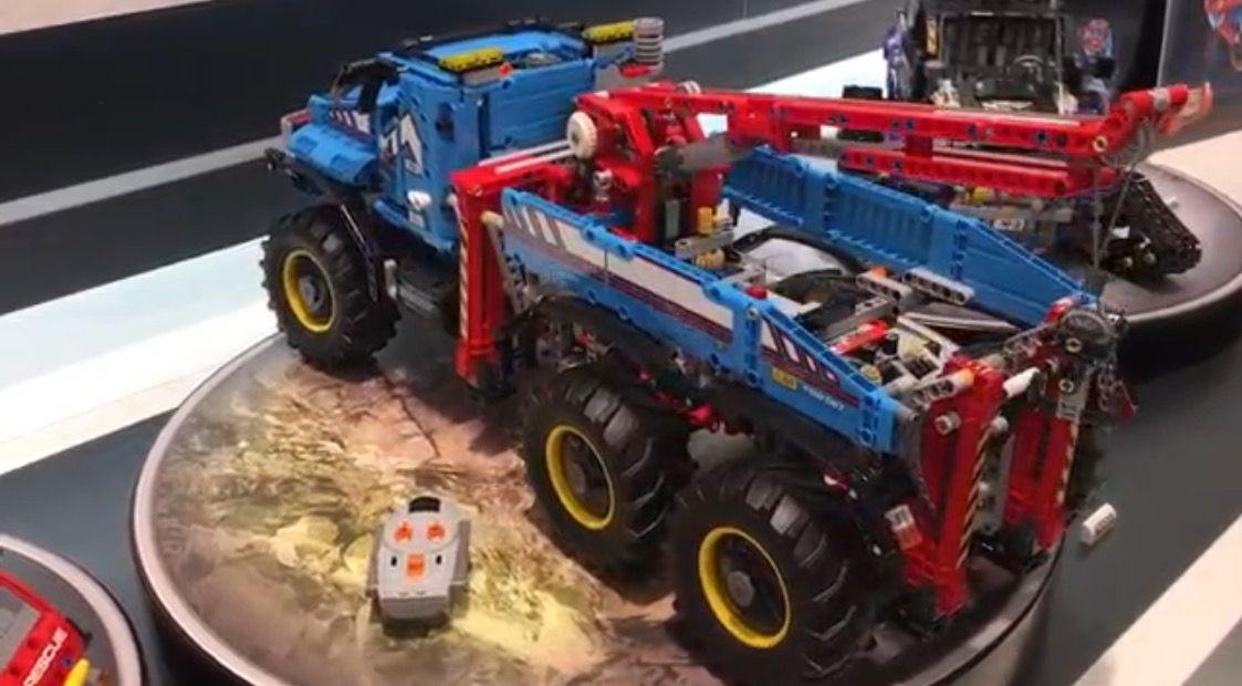 2017 6x6 lego technic tow truck set 42070 lego technic. Black Bedroom Furniture Sets. Home Design Ideas