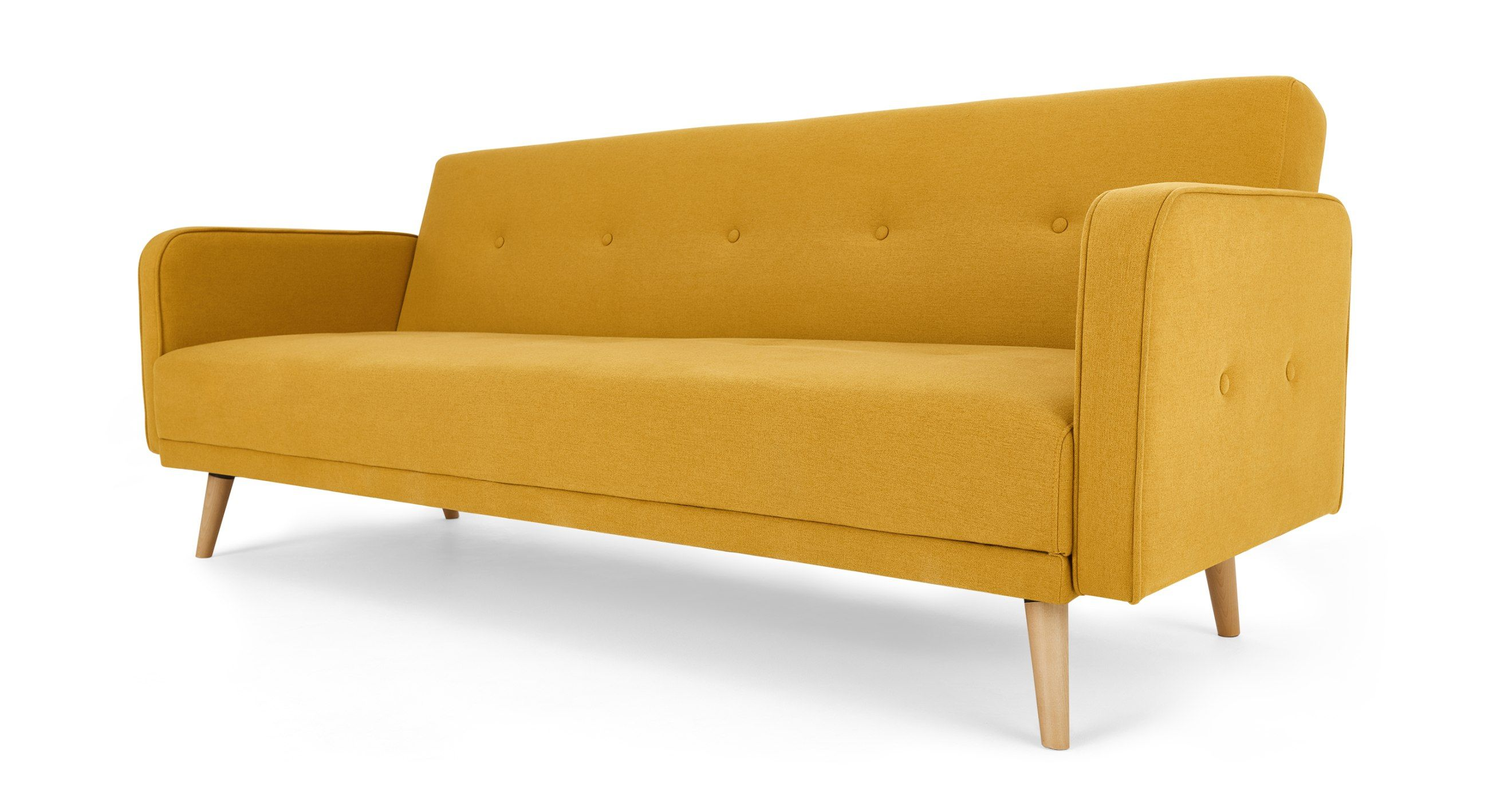 Chou Click Clack Sofa Bed, Butter Yellow in 2020 (met