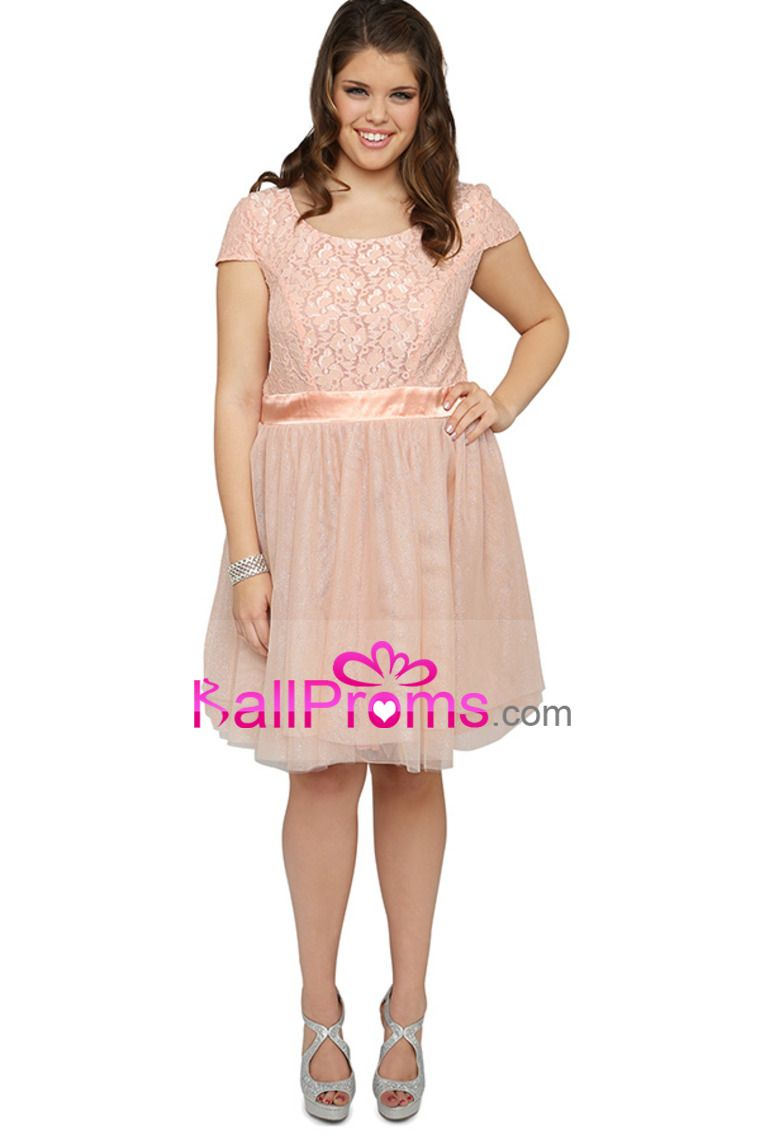 Plus size short prom dress with tulle ballerina skirt tulle short