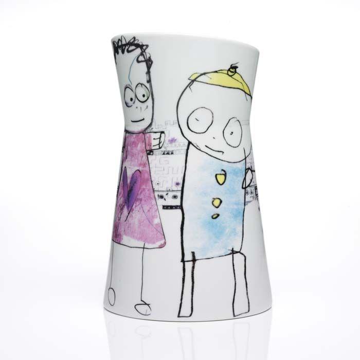 Poul Pava Colorful Art Collection Porcelain