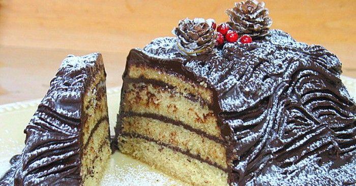 Bûche de Noël au chocolat sans gluten