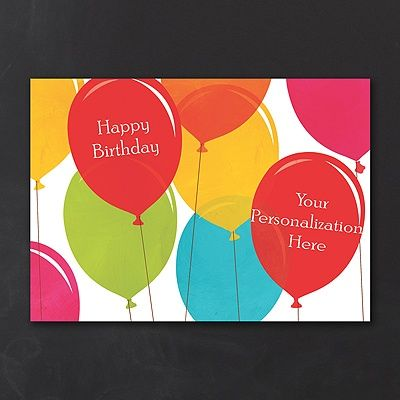 Send uplifting birthday greetings with the colorful, floating balloon design on this birthday card!