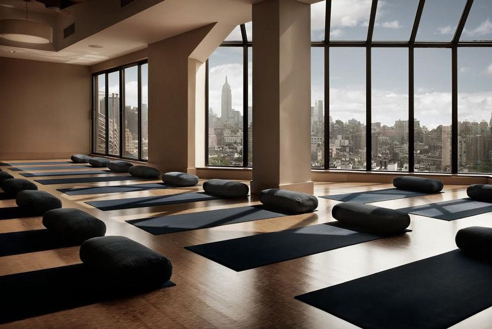 The Most Luxurious Gyms in America Studio interior, Yoga