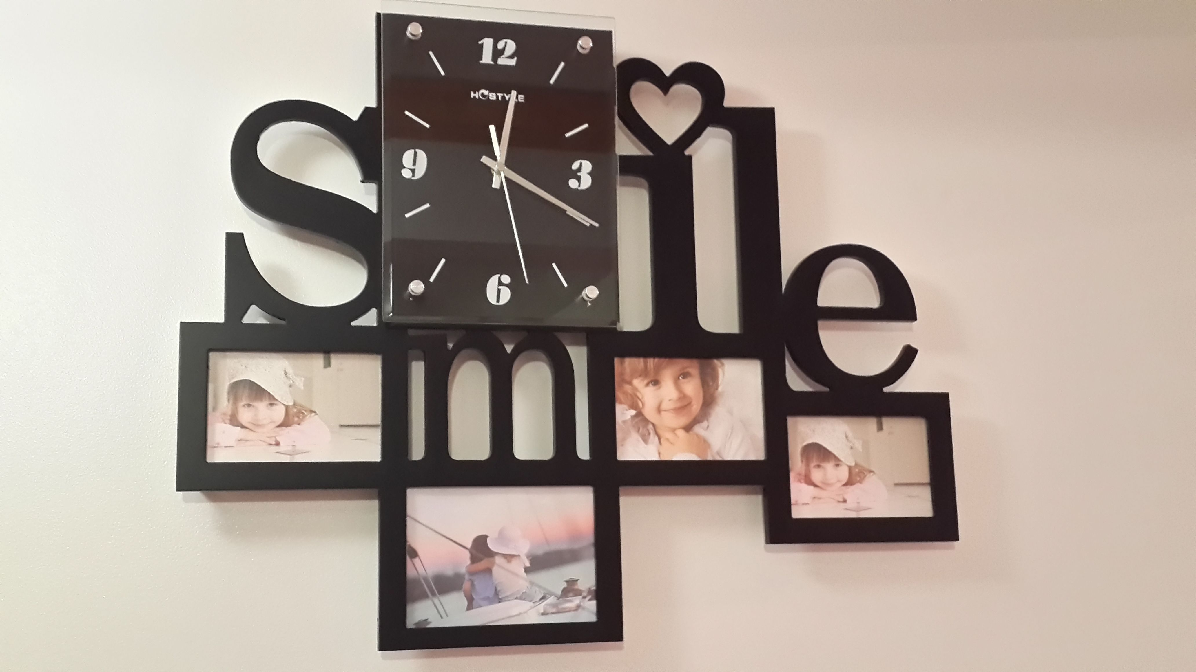 Smile photo frame wall clock modern wall clock pinterest smile photo frame wall clock jeuxipadfo Images