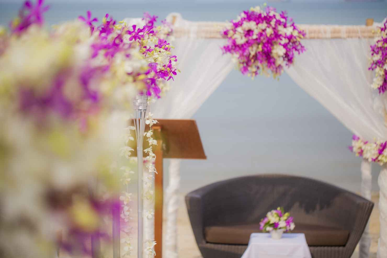 Intimate Wedding At The Beach Cape Panwa Thailand