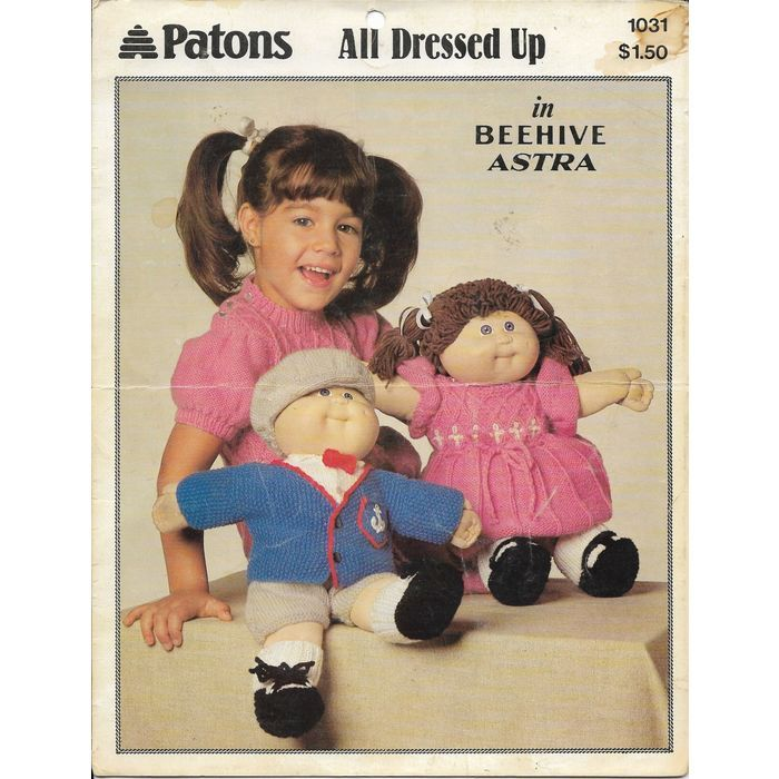 Beehive Patons Baldwins Leaflet 1031 All Dressed Up Cabbage Patch ...