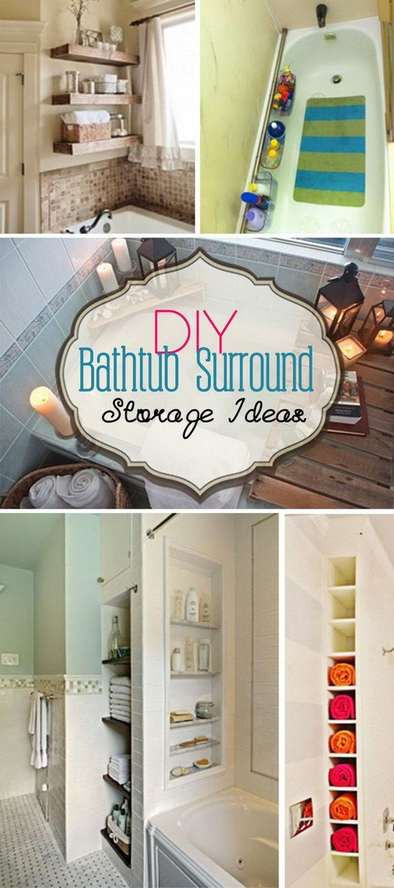 DIY Bathtub Surround Storage Ideas