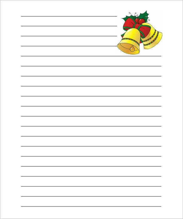 Christmas-Bells-Writing-Paper-Lined-Template-PDFjpg (585×700 - lined writing paper