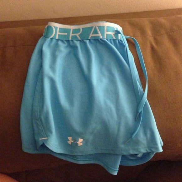 c55ab08f4f23c Jogging shorts UA Light blue Under Armour shorts. Women size M. Excellent  condition
