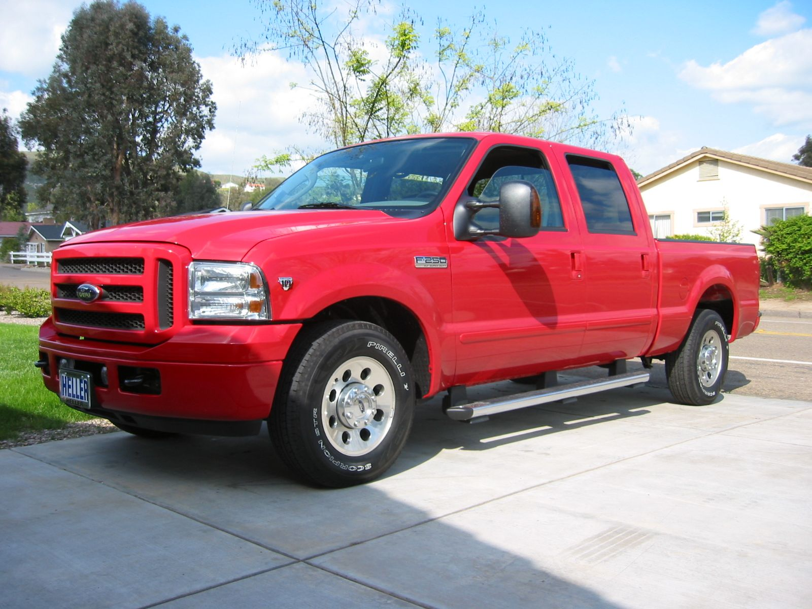 Red Ford F-25- trucks Ford Owners Manual, Bed Length, Gasoline Engine
