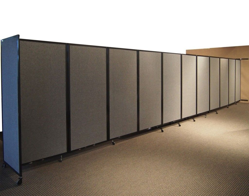 Astonishing office partition panel in gray portable room for Movable walls room partitions