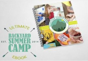 The Ultimate Backyard Summer Camp E-book is a summer camp curriculum designed by moms for moms to use with their 3-7 year old children. It is also great for babysitters, daycare providers, preschool summer camps, and any other childcare professional!
