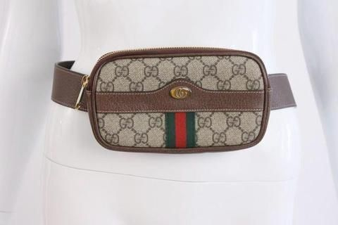 a446237cd127e4 New & Sold Out GUCCI Ophidia GG Supreme Belt Bag at Rice and Beans Vintage