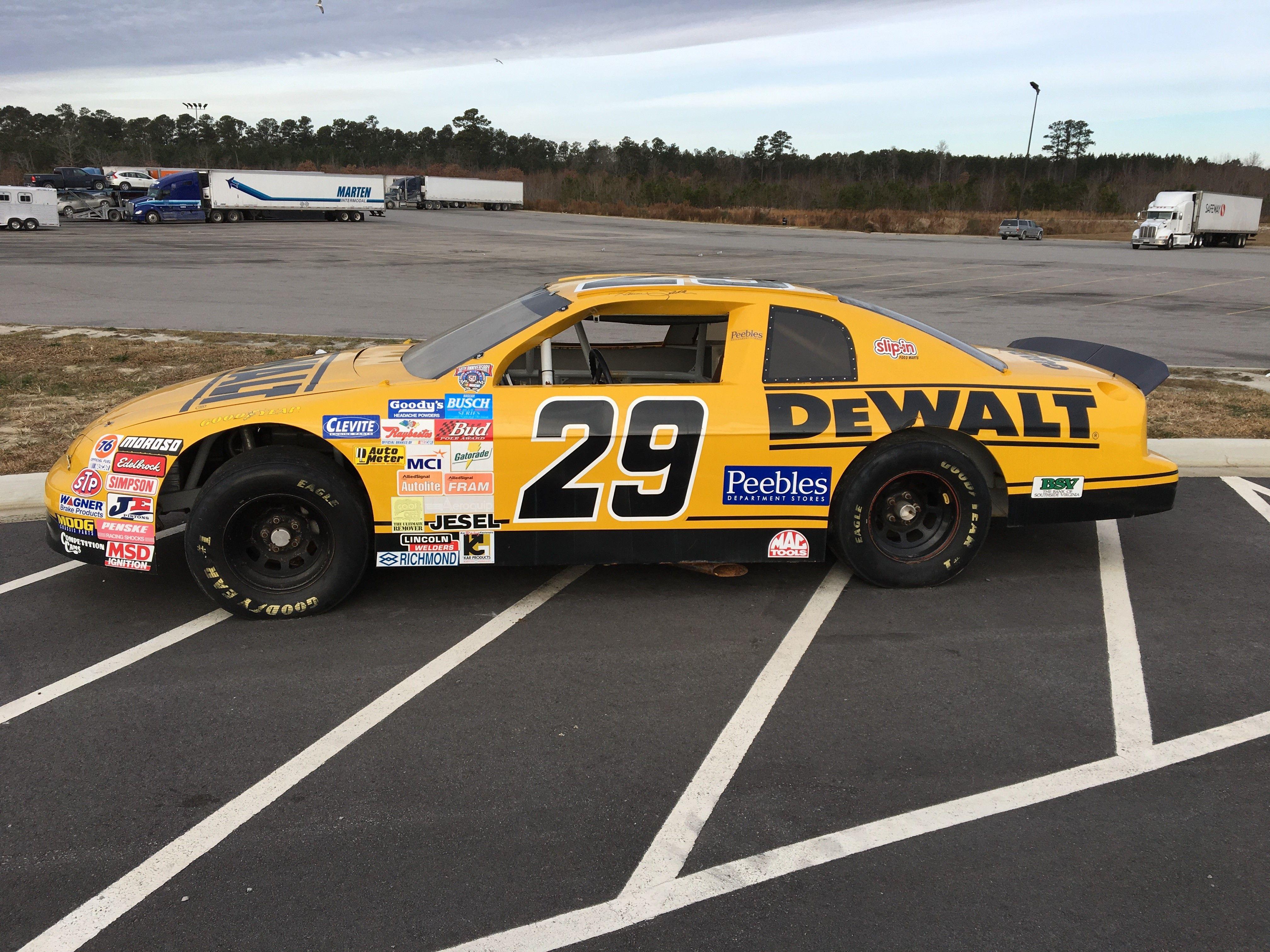 Nascar Racing Car At Shell Gas Station In Virginia
