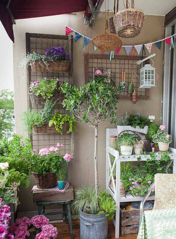 Balcony & Courtyard Garden Ideas | Small spaces, Balconies and Spaces