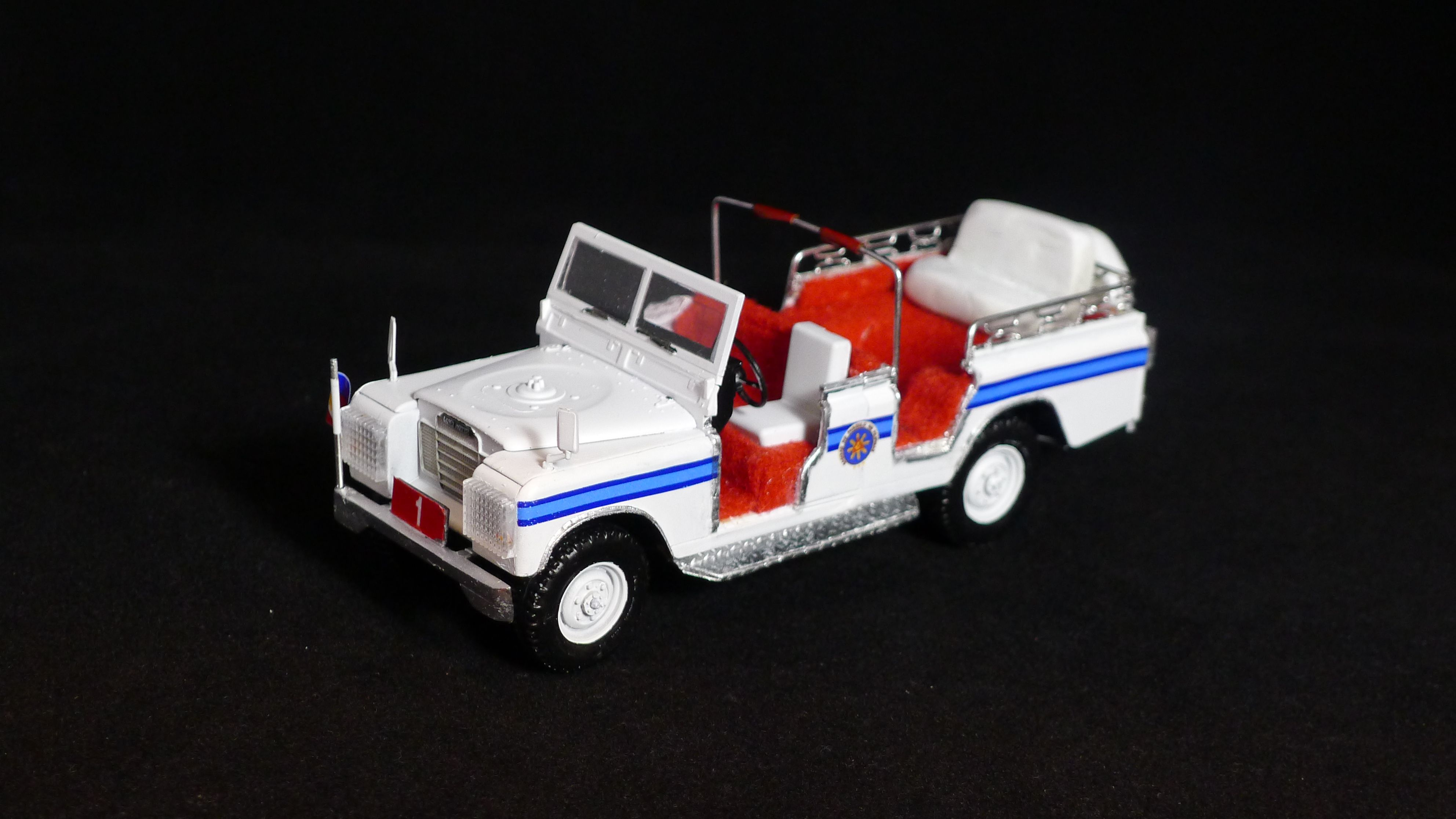 1/35 scale Italeri kit, Presidential Security Group's White Carabao ceremonial vehicle
