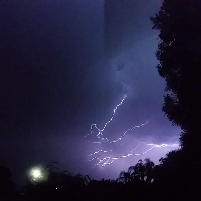 Very very scary lighting bolt that looks like a person.