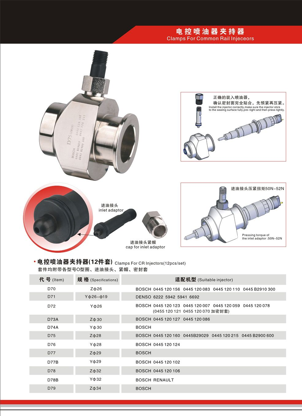 Common Rail Injector Holder | Diesel fuel injection pump