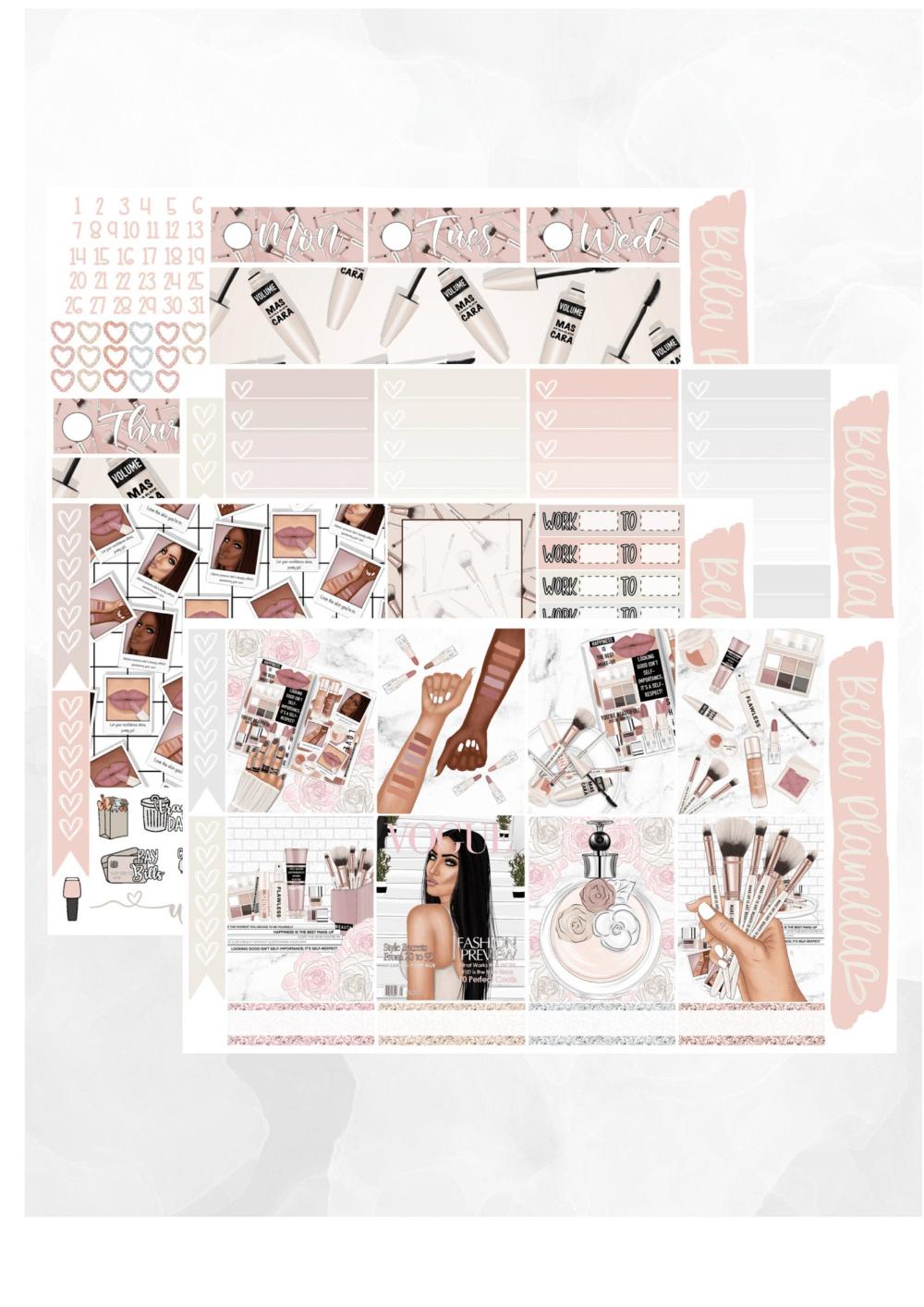 Pack of 5 Printed on Premium Matte Sticker Paper Planner Dreams Die Cuts