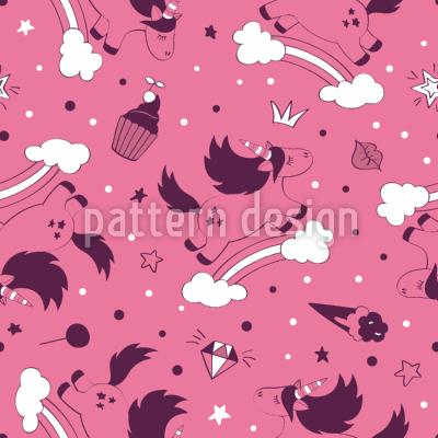 Springendes Einhorn Umfarbbarer Baumwollstoff Viskose O Baumwoll Jersey Designt Von Mariya Shotina Www Stoff Love Stoff Baumwollstoff Stoffe Nahen