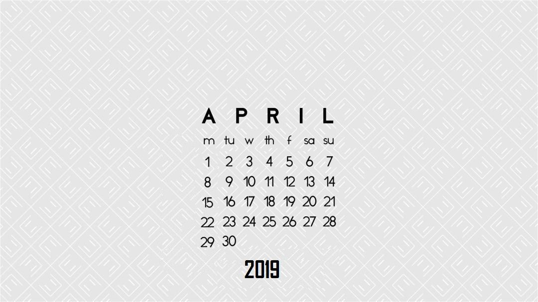 April 2019 Calendar Hd Wallpapers Desktop Wallpaper Calendar