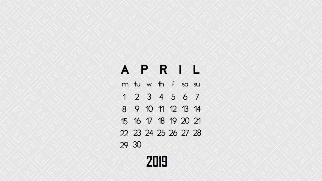 April 2019 Desktop Background Wallpaper Desktop Wallpaper Calendar Calendar Wallpaper Desktop Wallpaper