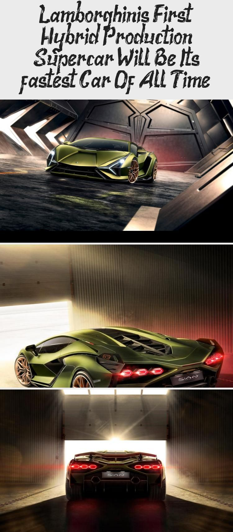 Lamborghini S First Hybrid Production Supercar Will Be Its In 2020 Super Cars Fast Cars Lamborghini