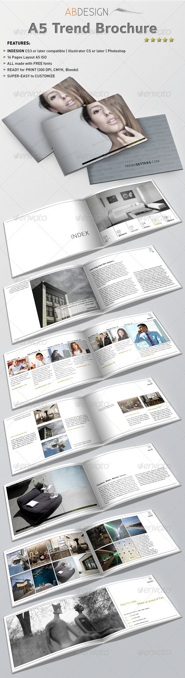 A5 Trend Brochure  #hotel #indesign #interior • Available here → http://graphicriver.net/item/a5-trend-brochure/310012?s_rank=52&ref=pxcr