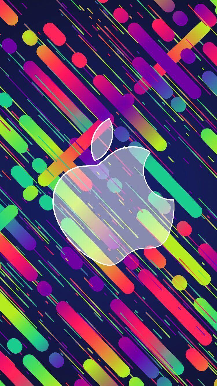 Apple raimbow Fondos de pantalla de iphone, Logo de