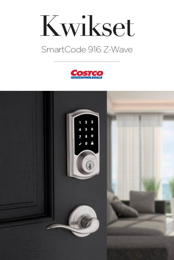 This combo pack includes the one-touch locking Kwikset