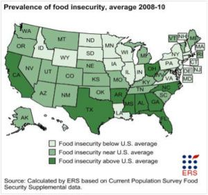Map of food insecurity