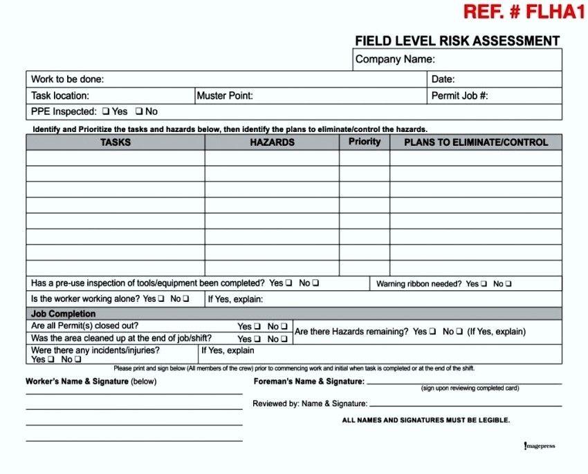 Formal Hazard Assessment Template 11 Features Of Formal Hazard