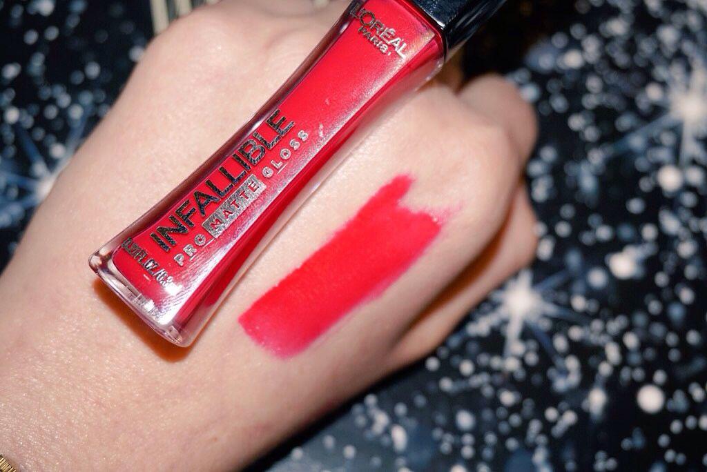 loreal lo lip makeup infallible swatch mattelipstick creme matte beauty
