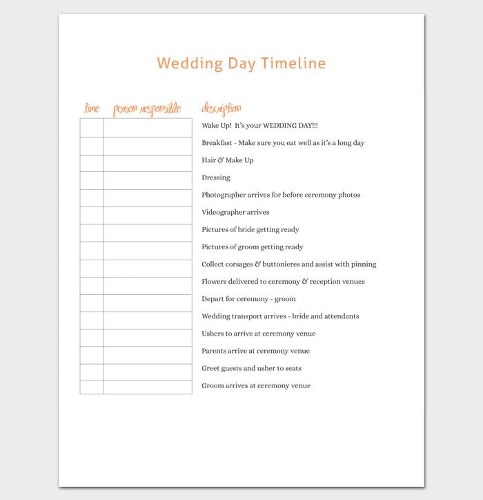 Event Timeline Template 7 For Word Excel Ppt Pdf Format Wedding Timeline Template Wedding Day Timeline Wedding Timeline