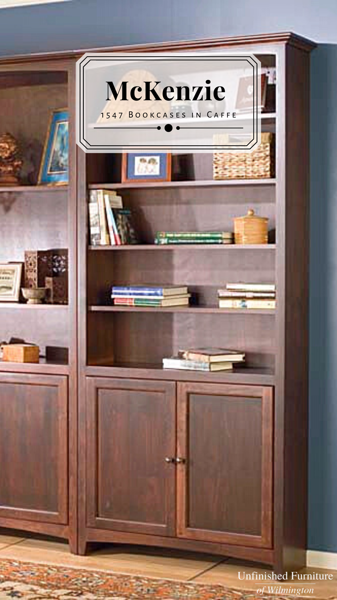 1547 84 X 36 Alder Mckenzie Bookcase With Lower Doors Unfinished Furniture Of Wilmington Unfinished Furniture Bookcase Wood Bookcase